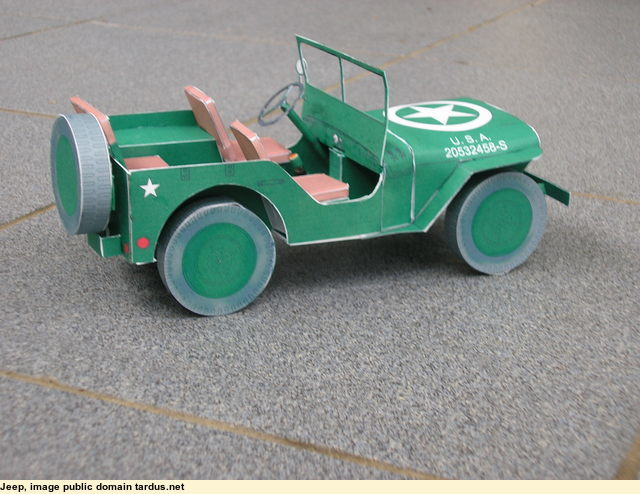Classic Willys Jeep - Paper Model